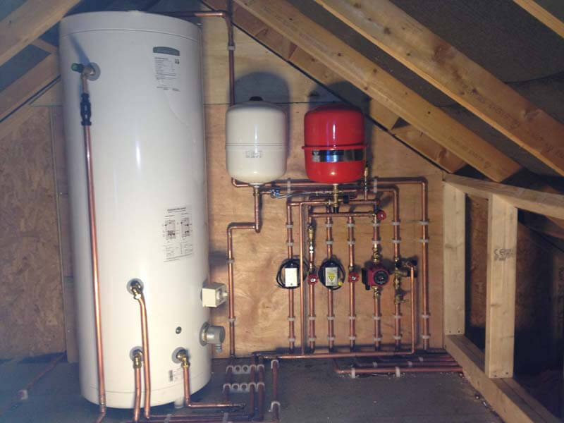 Typical Unvented Cylinder Installation